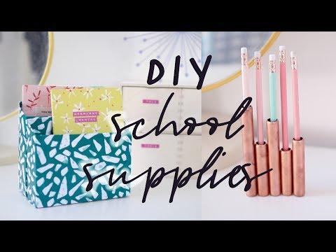 Back to School Organisation, DIYs, Stationary and Desk Decor | 2017