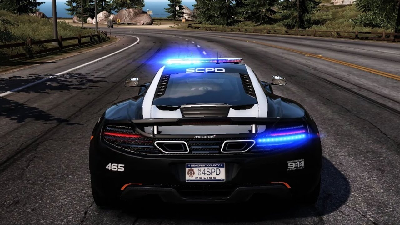 need for speed: hot pursuit - mclaren mp4-12c (police) - test drive