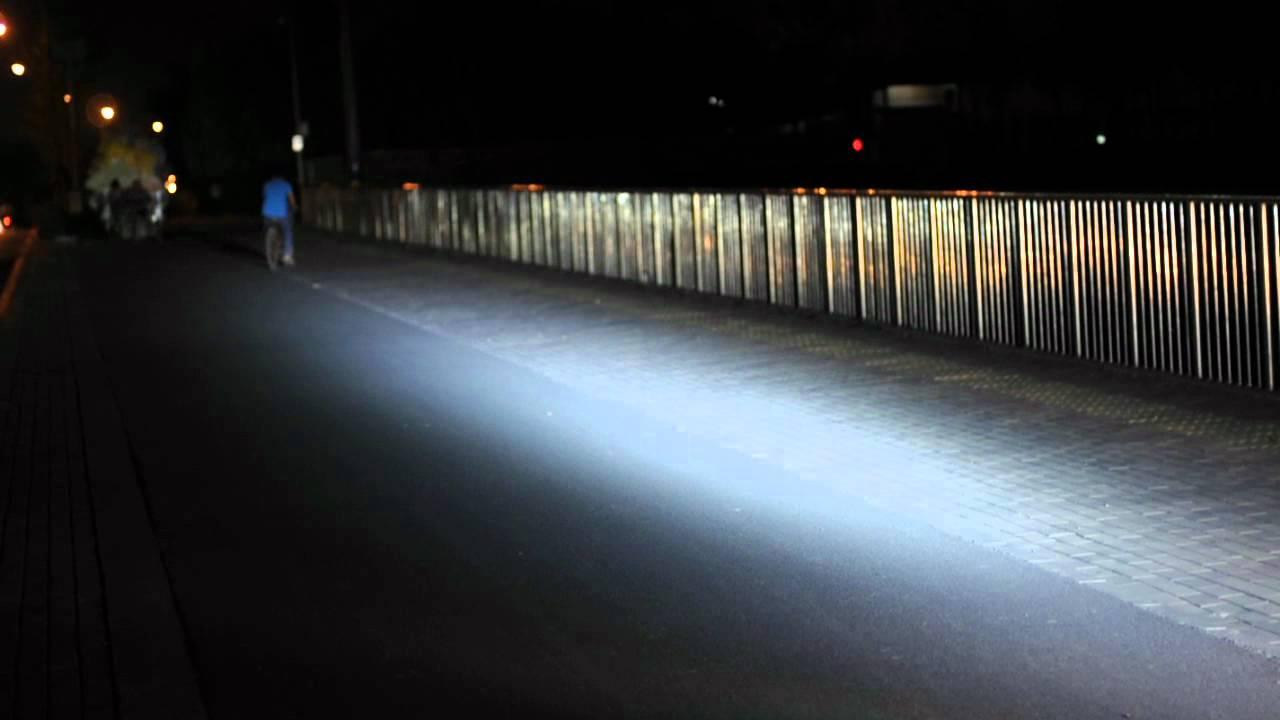 "Cree Light Bar >> 16"" Off Road Light Bar - 90 Watts, 9000 Lumens V.S. stock headlamp (2) - YouTube"
