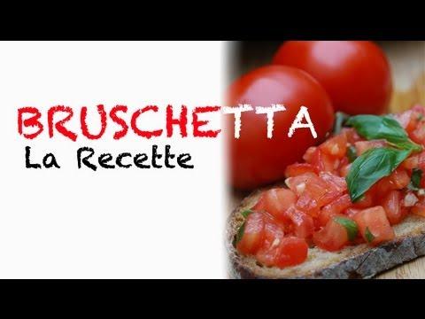 Recette italienne : bruschetta