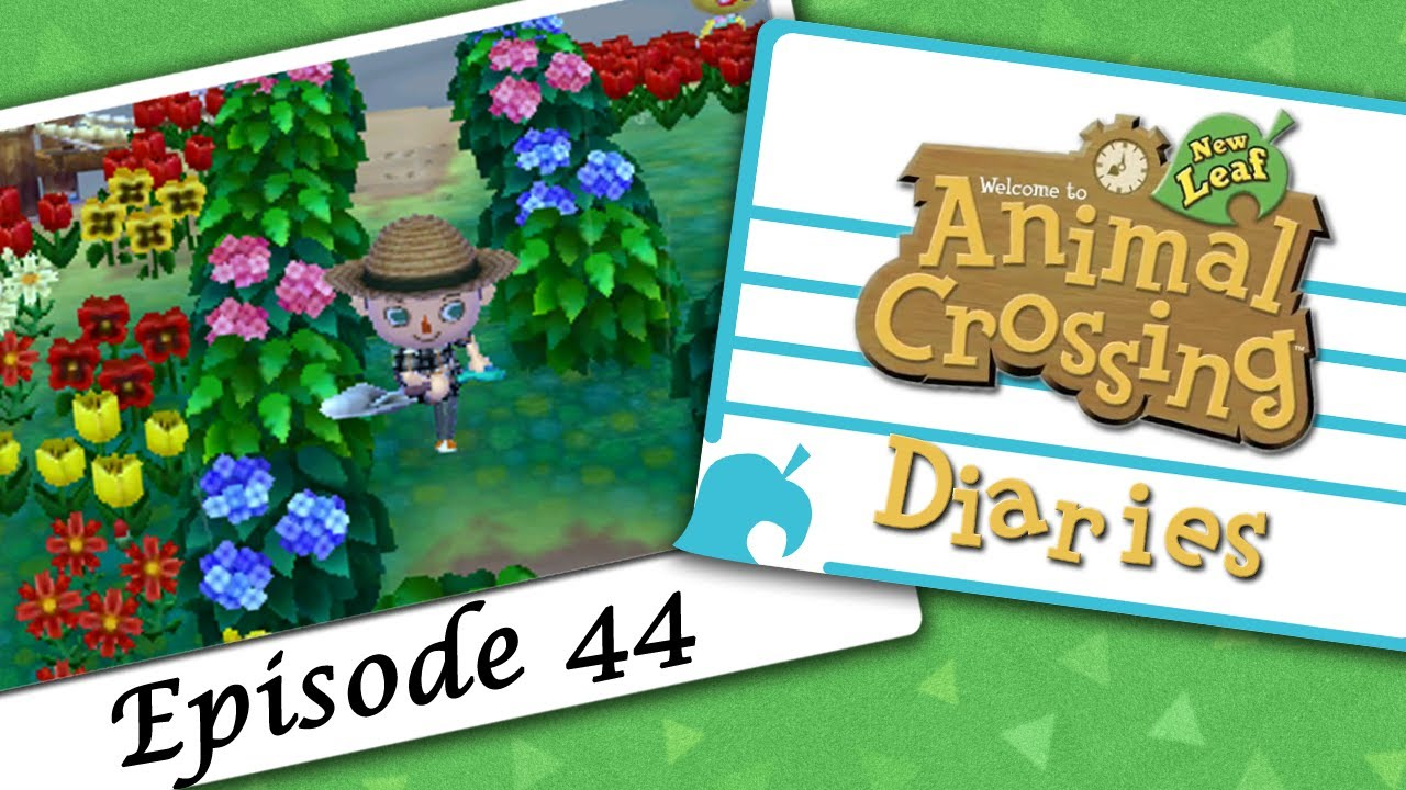 Animal Crossing New Leaf Diaries Episode 044 Hydrangea Danger