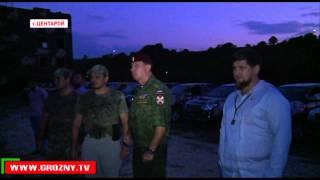 Рамзан Кадыров и Виктор Золотов осмотрели полигон в Центарое