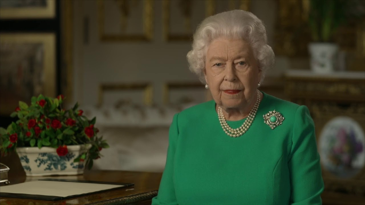 "Queen Elizabeth says, ""If we remain united and resolute, we will overcome it"" during address to UK"