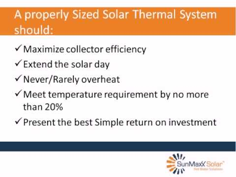Solar Hot Water System Sizing
