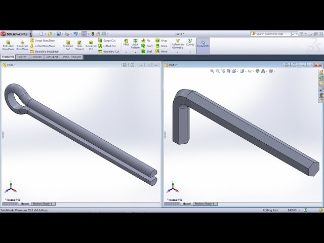 SolidWorks Training Practice Exercises for Beginners - 9 | SolidWorks Swept Boss Base Tutorial