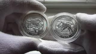 Серебряная монета Бизон 2017