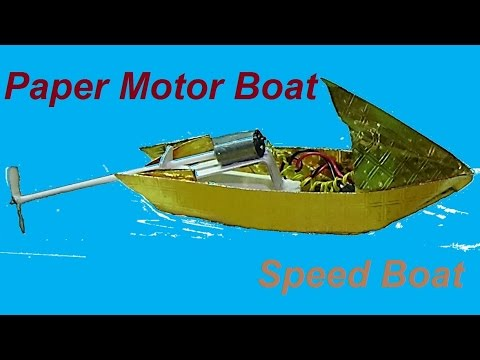 How To Make A Paper Speed Boat