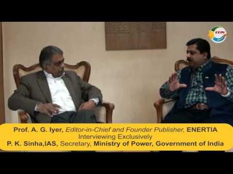 "Interview of P. K. Sinha,Secretary-Power,GoI- ""Best Bureaucrat - Centre"" at ""8th ENERTIA Awards 14"""