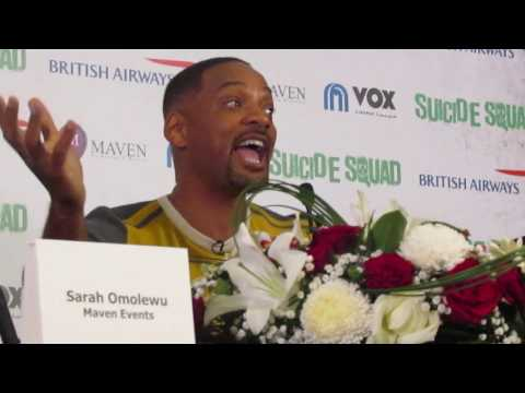 WILL SMITH- Hollywood superhero at a press conference in Dubai on Sunday