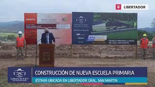 VIDEO. Morales encabeza inicio de obra de una nueva escuela primaria en Libertador