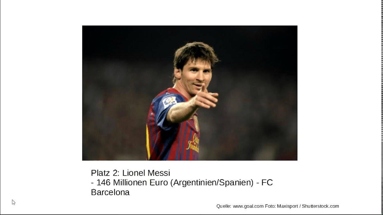 Die Reichsten Fußballer Der Welt 2014 Youtube