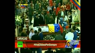 Venezuelans Bid Farwell To Hugo Chavez - Live Open Casket | Viva Chavez Por Siempre