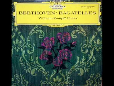 """""""Für Elise"""" - Wilhelm Kempff: 1964, Deutsche Grammophon (SLPM 138 934) - Beethoven"""