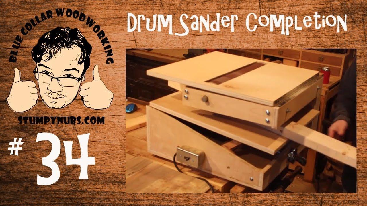 Completing the HOMEMADE drum sander/sand flea/V-drum- W... | Doovi