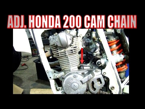 Cam chain adjustment for Honda 125, 185, and 200 ATV\u0027s  motorcycles