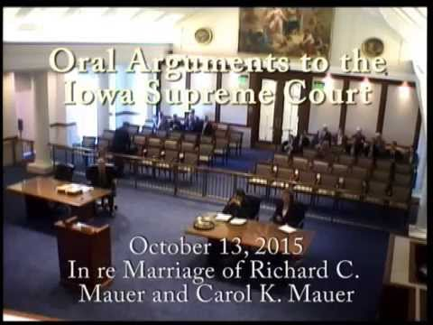 14–0317 In re Marriage of Richard C. Mauer and Carol K. Mauer, October 13, 2015