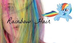 Rainbow Dash Inspired Hair    Natasha Cunha