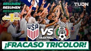 Resumen y goles   Estados Unidos vs México   Copa Oro 2021 - Final
