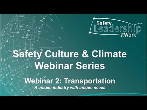 Safety culture and climate in transport webinar