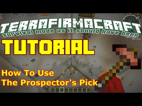 Minecraft TerraFirmaCraft Tutorial: How To Use The Prospecto