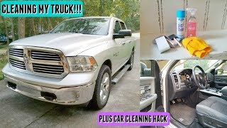 Clean My Truck with Me l Cleaning Motivation l Car Cleaning