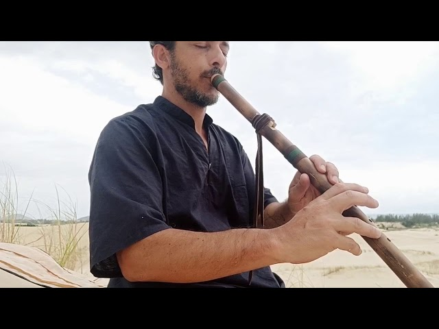 Flauta Nativa River Cane F# - Tocando para o Vento
