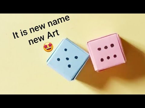 How make a paper dice ? It is new name Art Handwork