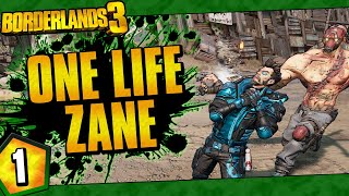 Borderlands 3 | One Life Zane Funny Moments And Drops | Day #1