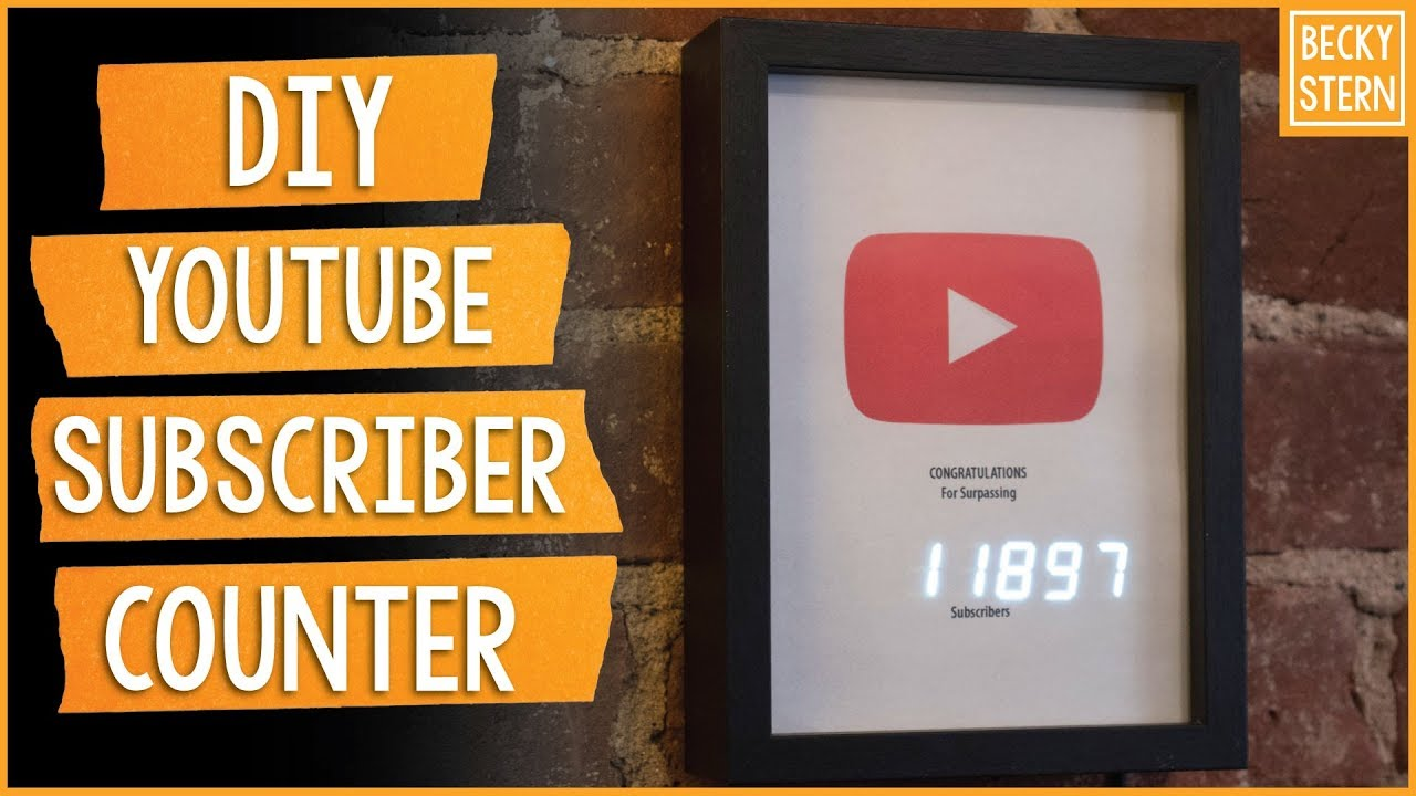 YouTube Subscriber Counter With ESP8266: 6 Steps (with Pictures)