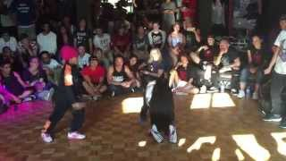 IBE Heart Breaker 2v2 Bgirl Battle Top 16. Bgirl Eddie & Bgirl Terra vs Sunny and Pauline