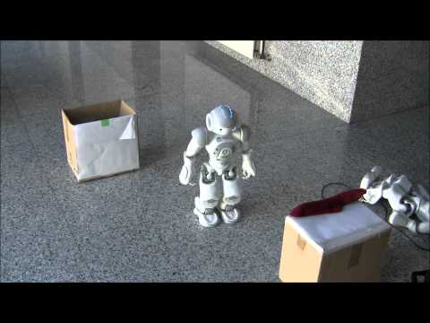Nao robot solving a pick up task using Automated Planning and Computed Vision (Experiment 1B)