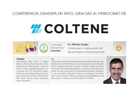 597 7th Coltene School E-Forum - Colombia - Criterios para la restauración del diente tx endo