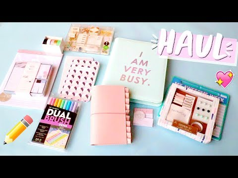 Download Youtube: Huge Stationery Haul!! Bullet Journal, Traveler's Notebook, Stickers, and More!