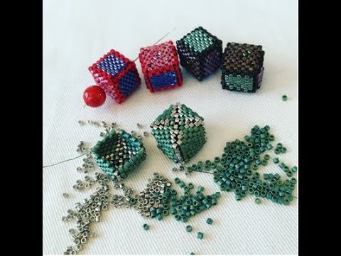Cube Bead Tutorial with Peyote Stitch