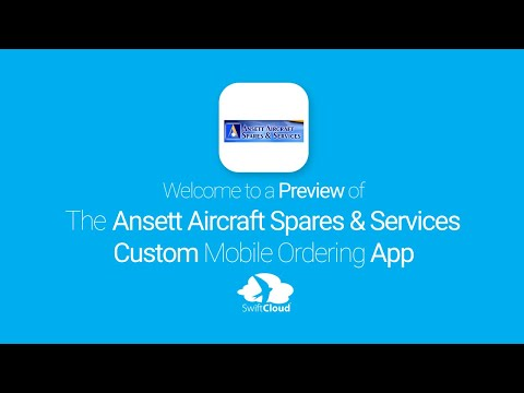 Ansett Aircraft Spares & Services - Mobile App Preview - ANS577W