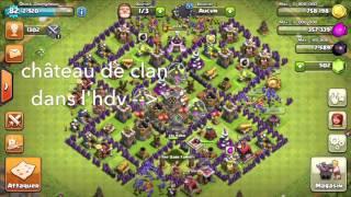Glitch clash of clans ! empiler des bâtiments !!