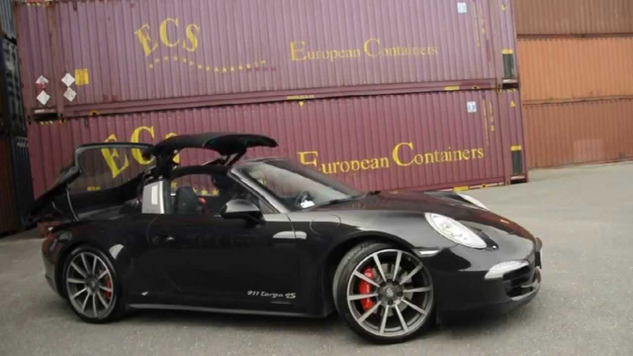 Porsche 911 991 targa 4s targa top opening youtube sciox Image collections