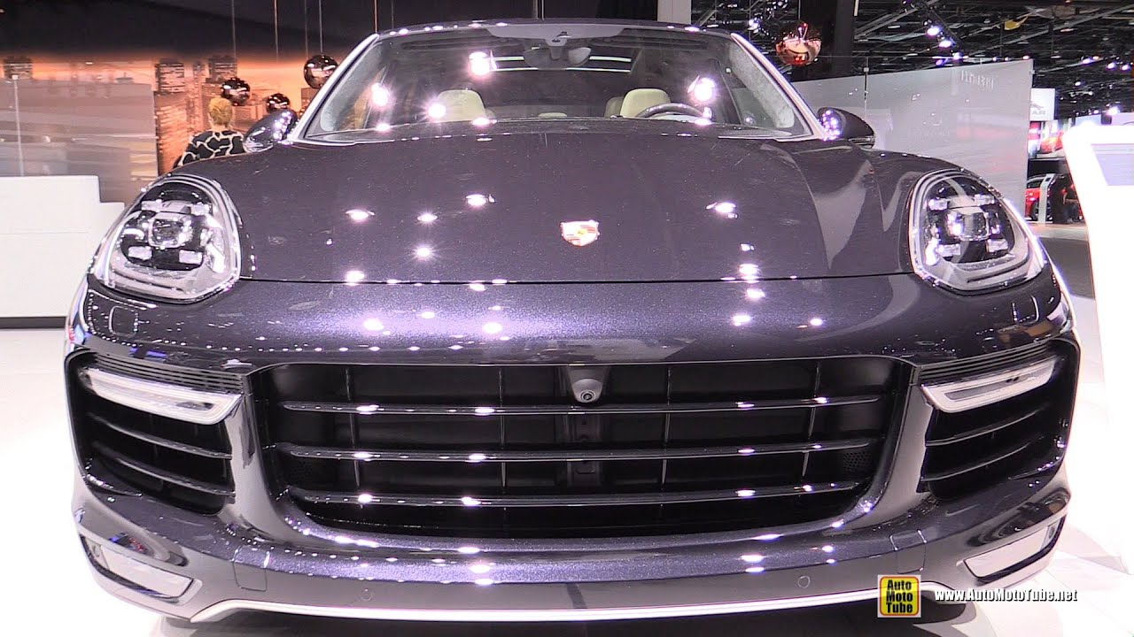 2016 porsche cayenne turbo s exterior and interior walkaround 2015 detroit auto show youtube