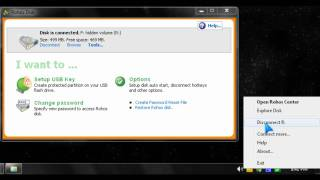 Create a Rohos Mini Drive USB Password protected disk partition tutorial