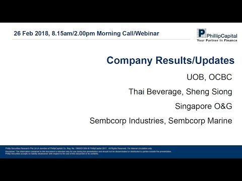 Market Outlook: Singapore Companies Results