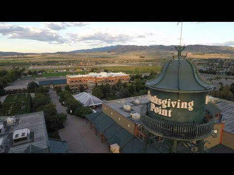 Aerial Drone Video of Brick Canvas at Thanksgiving Point in Lehi, Utah
