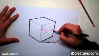 Sketching tutorial - How to draw Cast Shadows