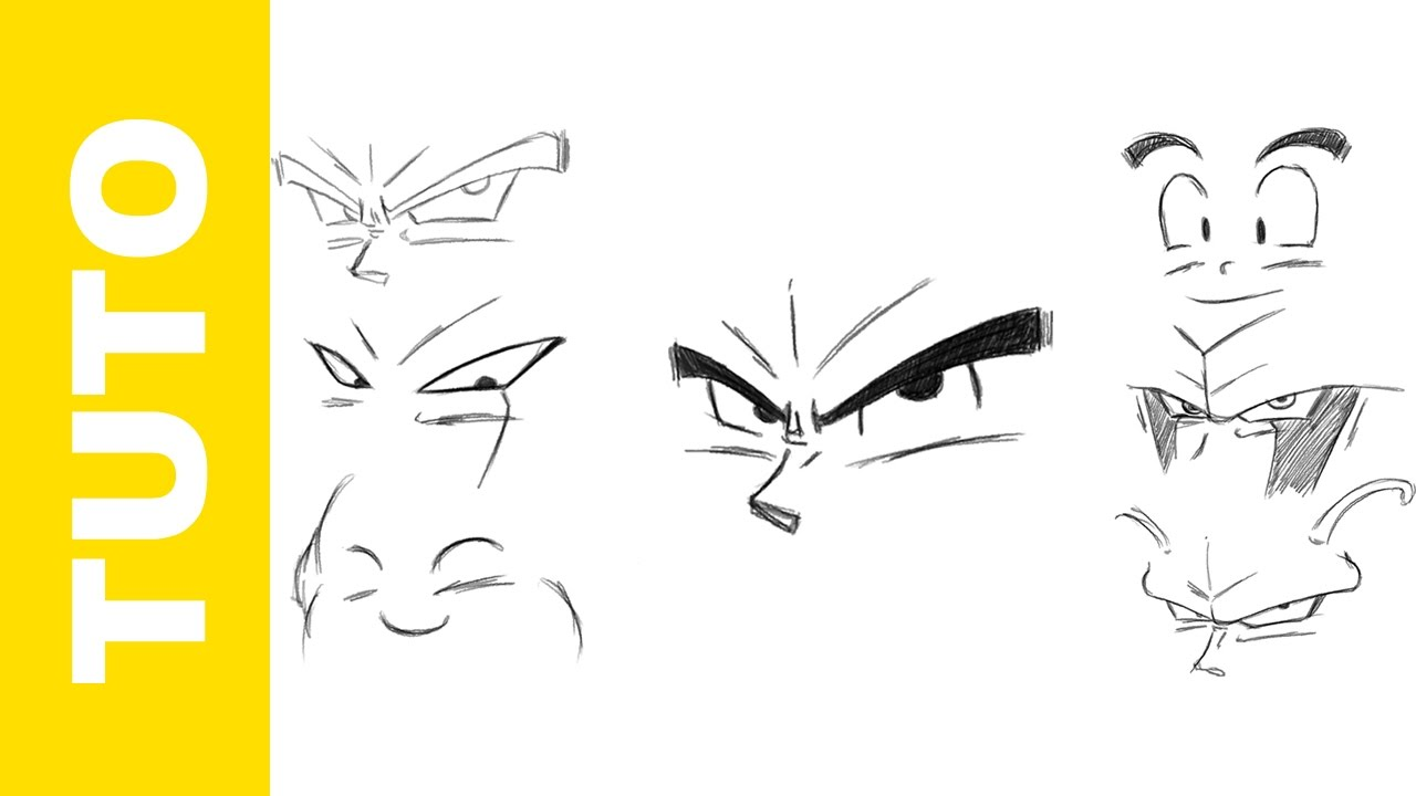 Comment Dessiner Les Yeux Dragon Ball Z Facilement YouTube