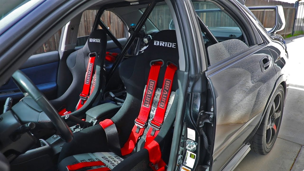 Bride Seats, 6-Point Harness, and Roll Bar Install - YouTube