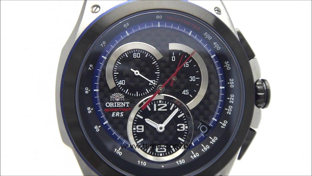 44029484f32 Relógio Orient Speed Tech KT00002B P1PX - YouTube