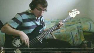 RHCP - Dani California [Bass Cover with TABS]