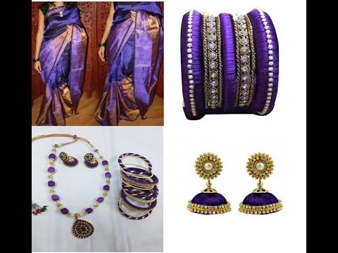 Making Silk Thread Jewelry Bangles Earrings And Necklaces