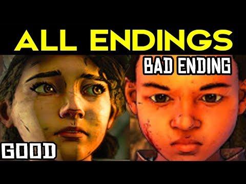 The Walking Dead Season 4 Episode 4 - ALL ENDINGS (Bad AJ Ending + Good AJ Ending) + SECRET ENDING