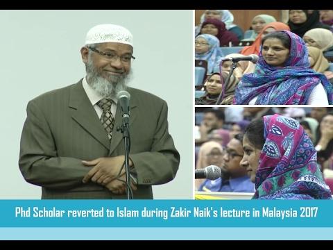 Phd Scholar reverted to Islam during Zakir Naik