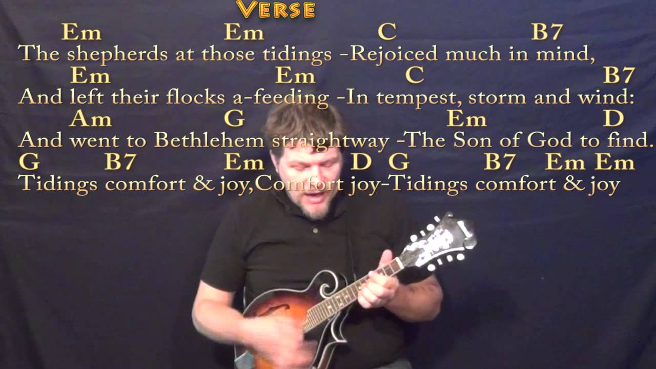 God Rest Ye Merry Gentlemen (CHRISTMAS) Mandolin Cover Lesson in G with Chords/Lyrics - YouTube